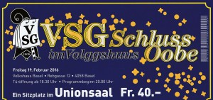 Schlussobe Ticket